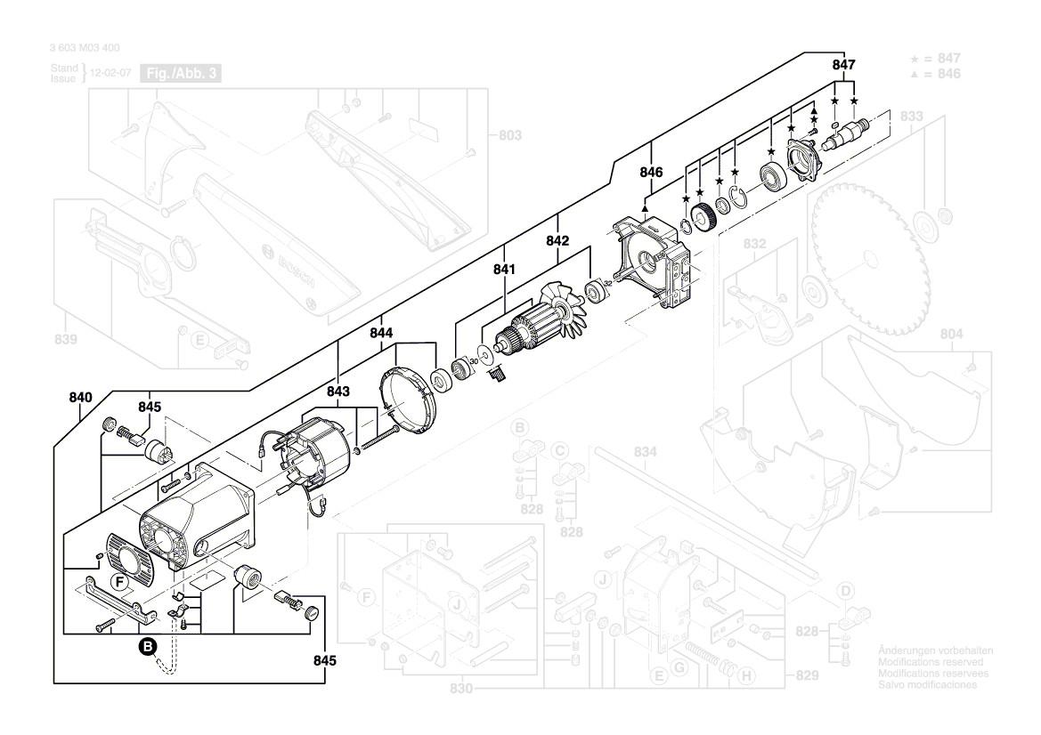 ersatz anbaumotor 1619pa3191 für tischkreissäge bosch pts 10
