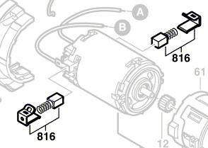 Bosch Kohlebürstensatz 2607034904 Für Akkubohrschrauber