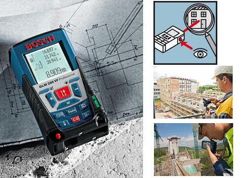 Laser Entfernungsmesser Neigungsmessung : Bosch laser entfernungsmesser glm vf professional mit zieloptik