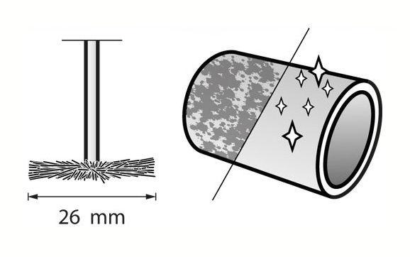 Bosch Dremel Hochleistungs-Schleifbürste #538 26 mm