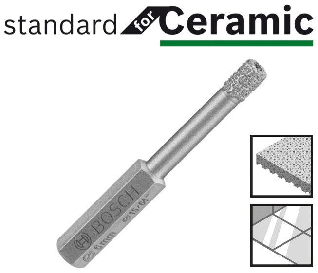 bosch diamantbohrer mit 6 kant schaft standard for ceramic. Black Bedroom Furniture Sets. Home Design Ideas
