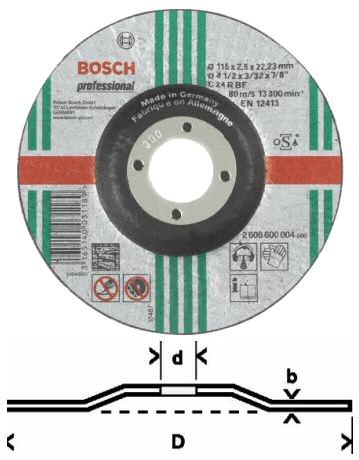 Bosch Trennscheiben O 115 Mm Gekropft Expert For Stone