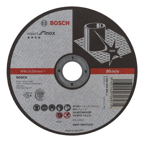 Bosch Trennscheibe 150 Mm Gerade Expert For Inox Fur
